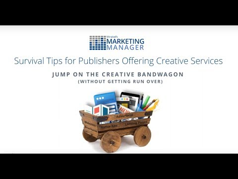 Survival Tips for Publishers Offering Creative Services