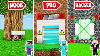 Minecraft MOST SECURE BUNKER FOR YOUR MONEY in Noob vs Pro Animation