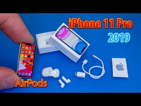 Mini IPhone 11 Pro And AirPods For DollHouse | No Polymer Clay! How To Make - Tutorial
