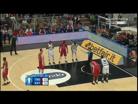 Dolomiti Energia Trento vs EA7 Milano, Full Game, (ita), Eurocup 2015/16