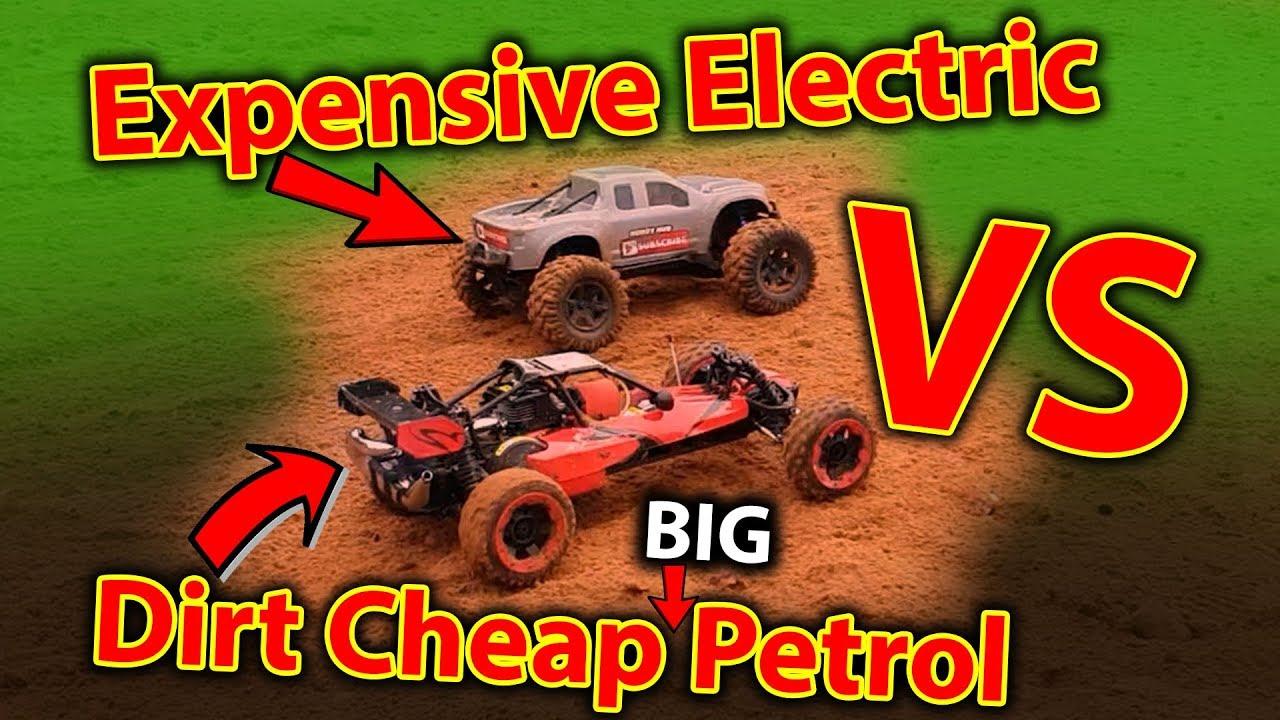 Great Big Petrol Rc Car First Bash With Massive Electric Rc Car