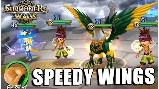 SUMMONERS WAR : Speedy Wings w/ Bernard's new runes