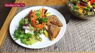 Szybka kolacja. Tosty serowe i kolorowa sałatka | BEZ STATYWU:: Skutecznie.Tv