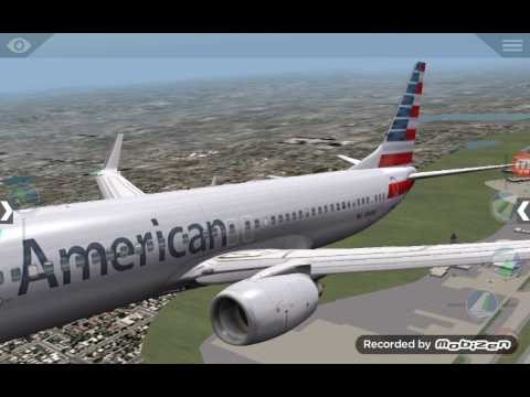 X-Plane 10 American Airlines  Boeing 737-800NG Flight 849 From KSEA To KPAE