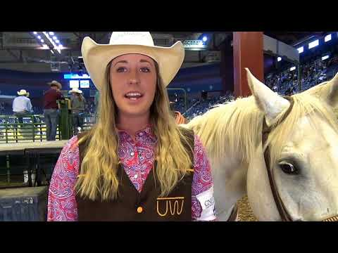 2018 CNFR University of Wyoming Team Roper Justene Hirsig
