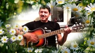 Аркадий Кобяков поёт под гитару -Русь (на стихи С Есенина) редкое видео!