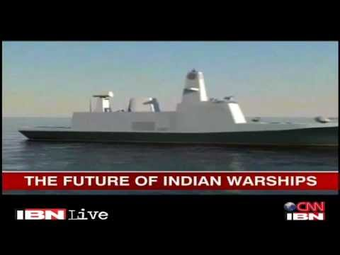 Indian Navy Future Trimaran Stealth Frigate - YouTube