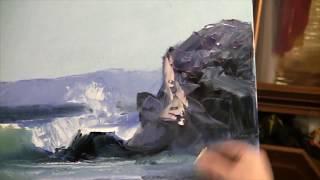 Igor Sakharov_Surf_Уникальная техника рисования_Прибой