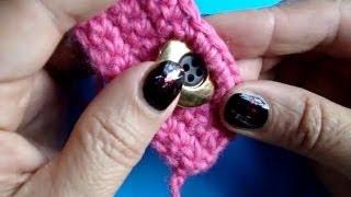 Вязание крючком - Видео урок 179 - Петелька для пуговицы 1