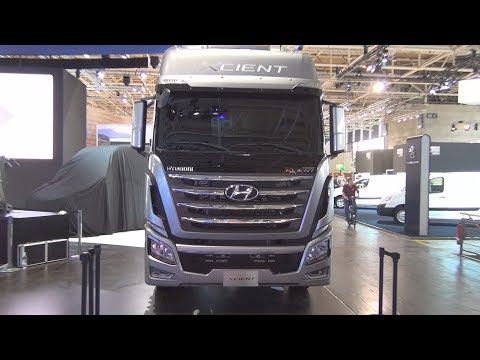 Hyundai Xcient P520 6x2 Tractor Truck Exterior and Interior