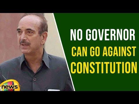 No Governor can go against Constitution, Says Ghulam Nabi Azad | Mango News