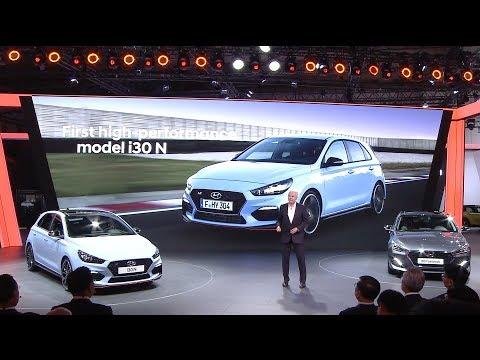 Hyundai Press Conference at the Frankfurt Motor Show 2017