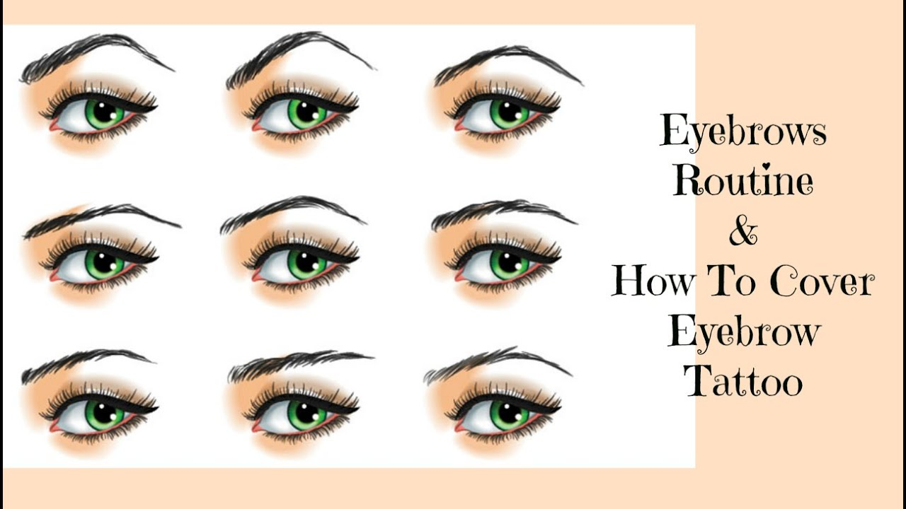 Eyebrows routine how to cover eyebrow tattoo youtube for Foundation to cover tattoos
