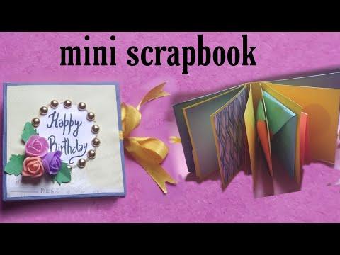 DIY mini scrapbook/ scrapbook for beginners/ birthday scrapbook tutorial/ scrapbook handmade