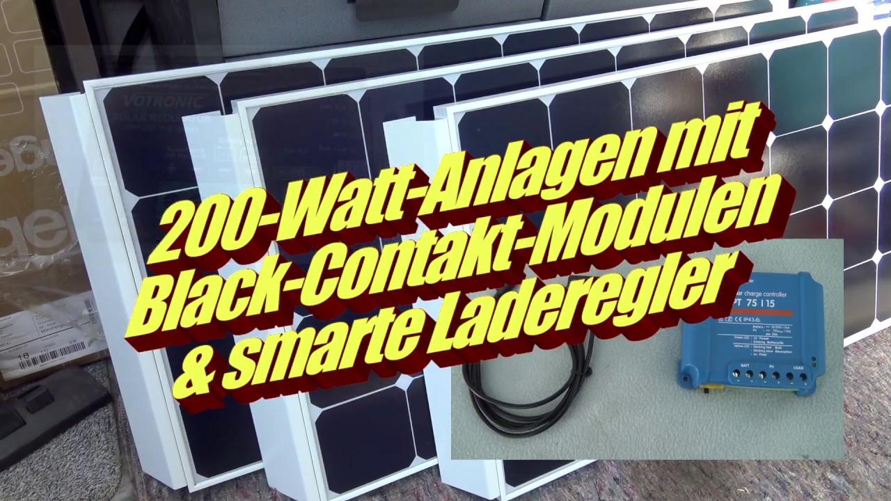 10-Watt-Solaranlage von GNS – mit Black-Contakt-Modulen und smarten  Ladereglern