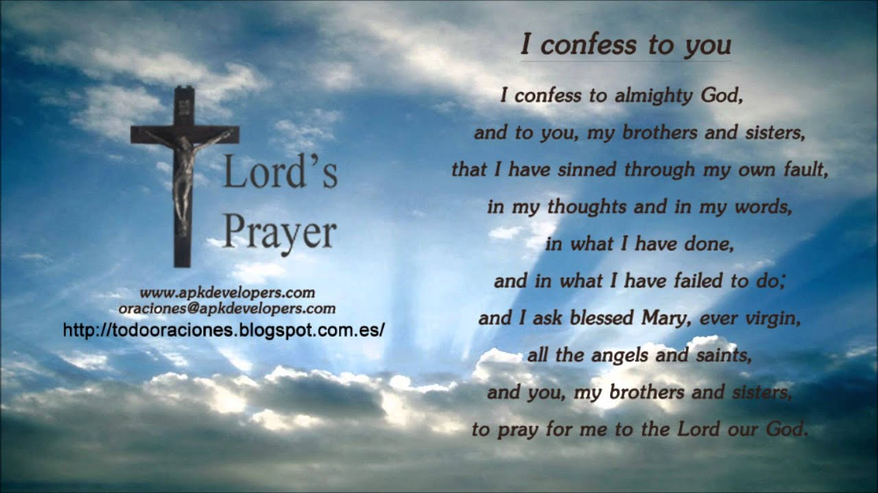 Catholic prayers - I confess to you. - YouTube