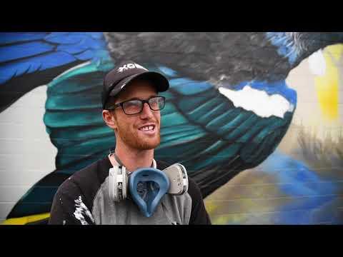 New street artwork brightens up South Dunedin