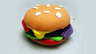 How to make polymer clay hamburgers / cheeseburgers - EP