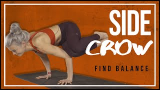 side crow pose parsva bakasana for beginners  doovi