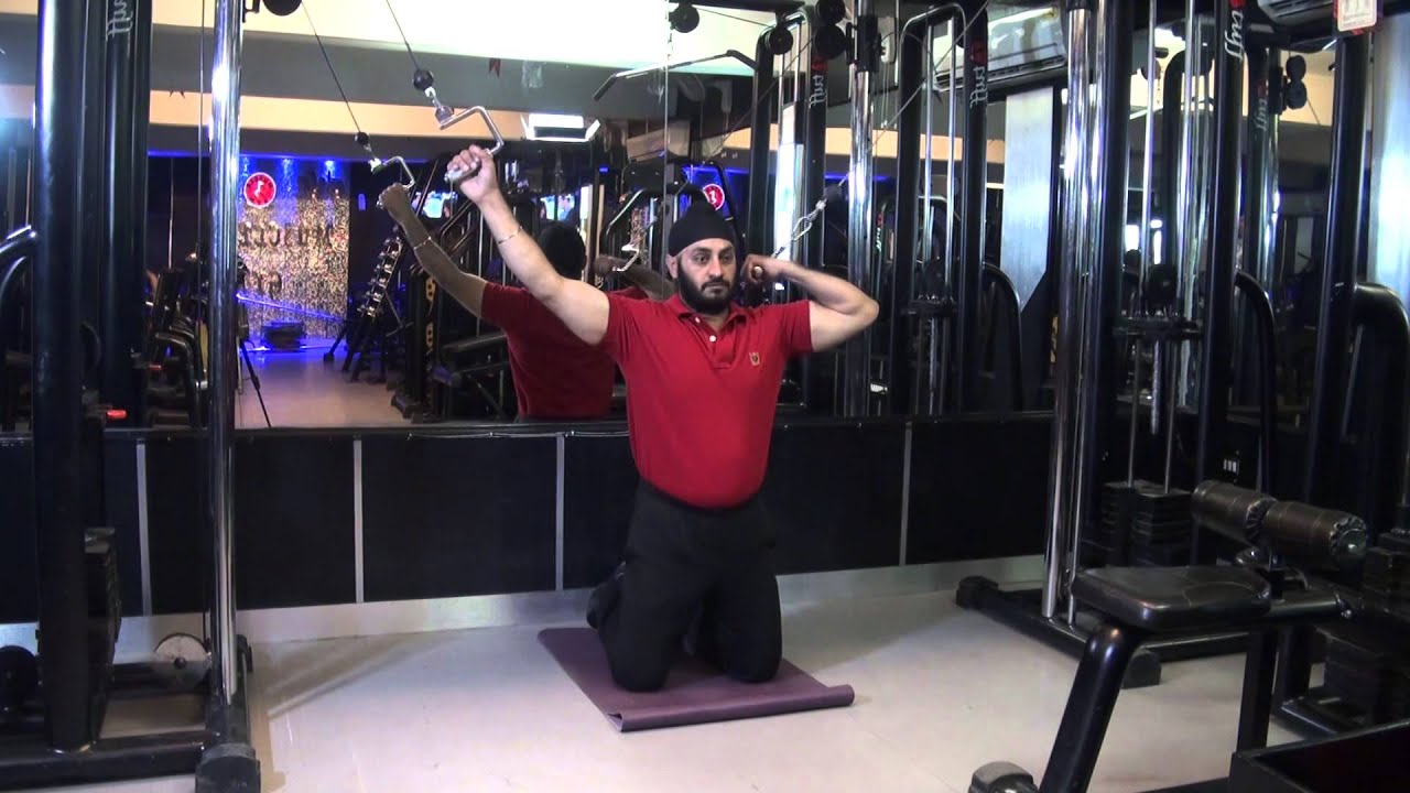 BICEPS - Kneeling High Pulley Cable Curls With Loop ...