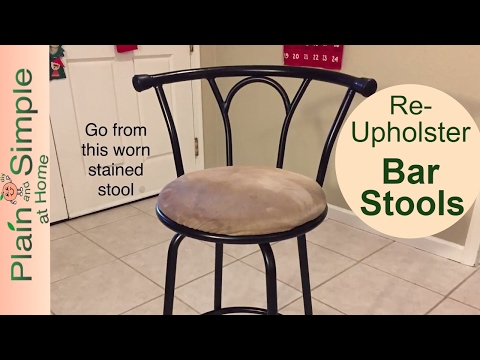 DIY Bar Stool Reupholster