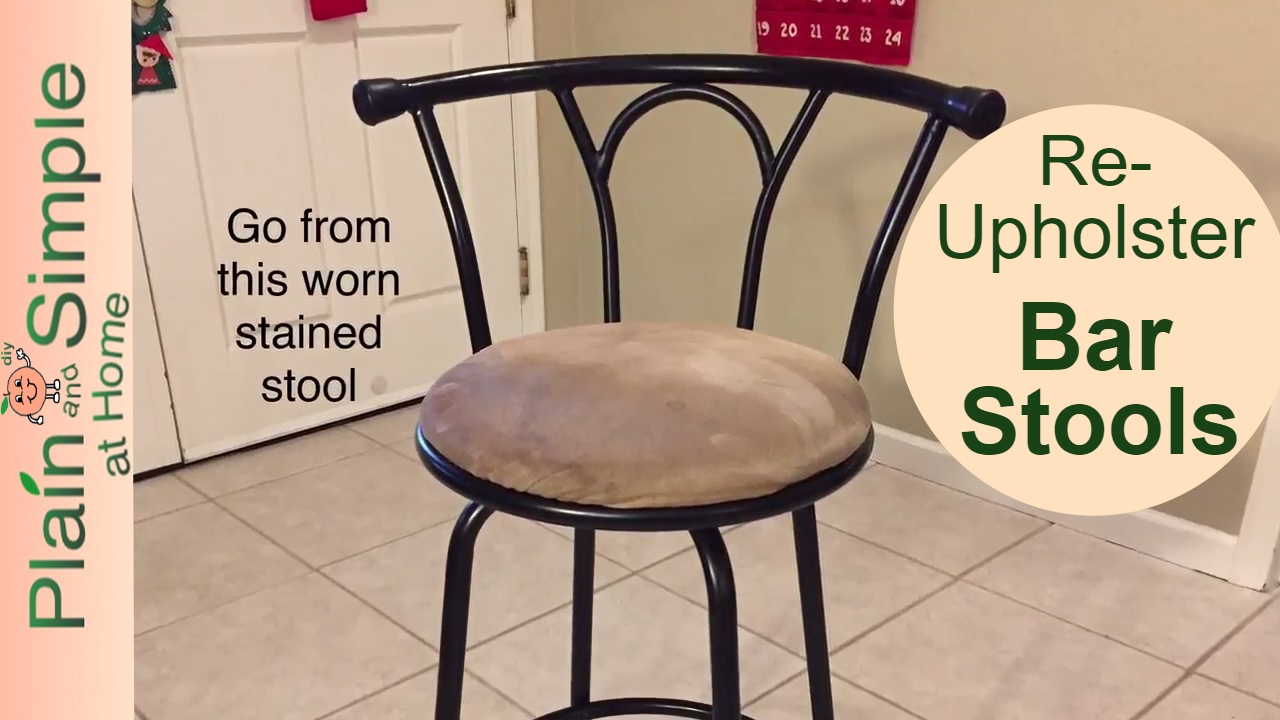 Diy Bar Stool Reupholster You