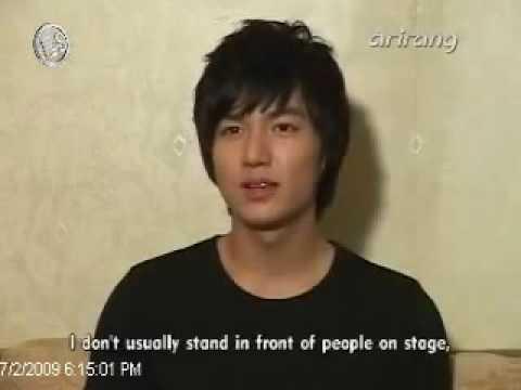 20090702 Arirang News :  Lee Min Ho @ Minoz Happy Day Mini Concert  [Eng Sub]