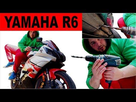 Просверлил дырку в Катализаторе Как изменился звук Выхлопа Yamaha R6