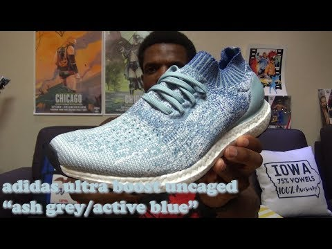 """adidas-ultra-boost-uncaged-""""ash-grey-/-active-blue""""-review-(b37693)"""