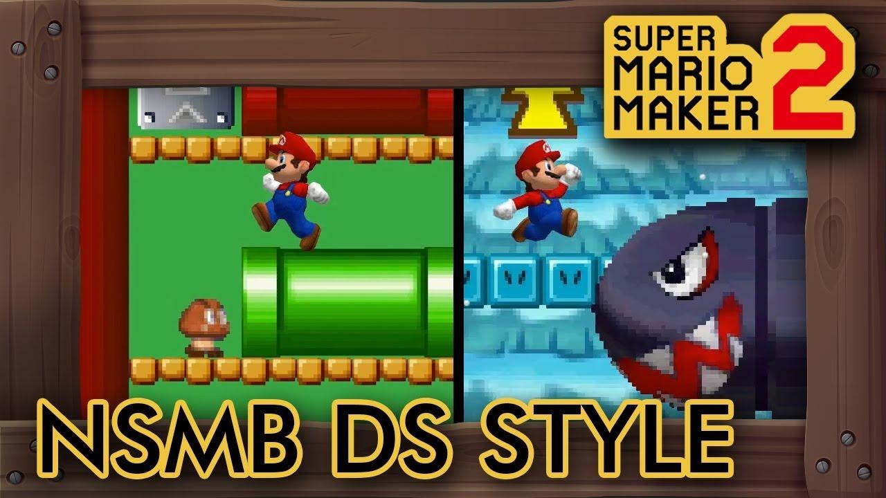 New Super Mario Bros  DS Style in Super Mario Maker 2