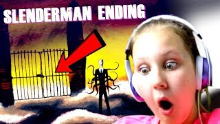 SLENDER MAN FOREST GAME!! (ENDING) Ruby Rube