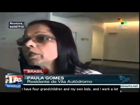 Brazilians protest against evictions