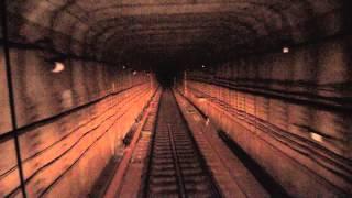Вид из кабины машиниста киевского метрополитена(Красиво однако., 2015-04-25T10:37:14.000Z)