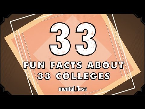 33 Fun Facts About 33 Colleges - mental_floss on YouTube (Ep.43)