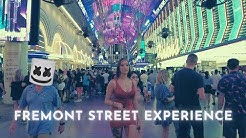 Las Vegas Downtown Fremont Street - walk at night summer