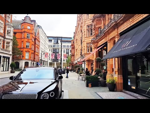 Walking in Mayfair, New Bond Street, Oxford Street | London Walk 2020