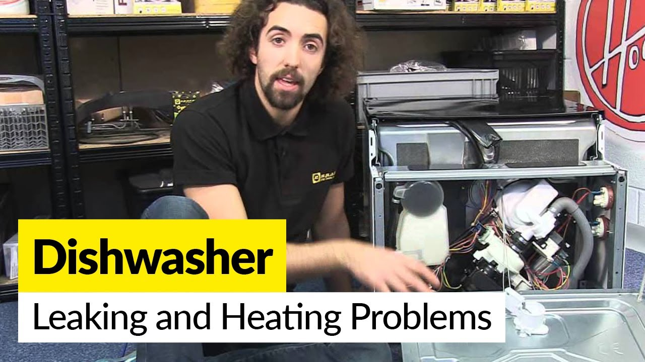 Washing Machine Leaking >> How to Diagnose Dishwasher Leaking and Heating Problems - YouTube