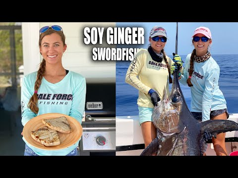 SOY GINGER SWORDFISH STEAKS 🐟🥩 Gale Force Twins