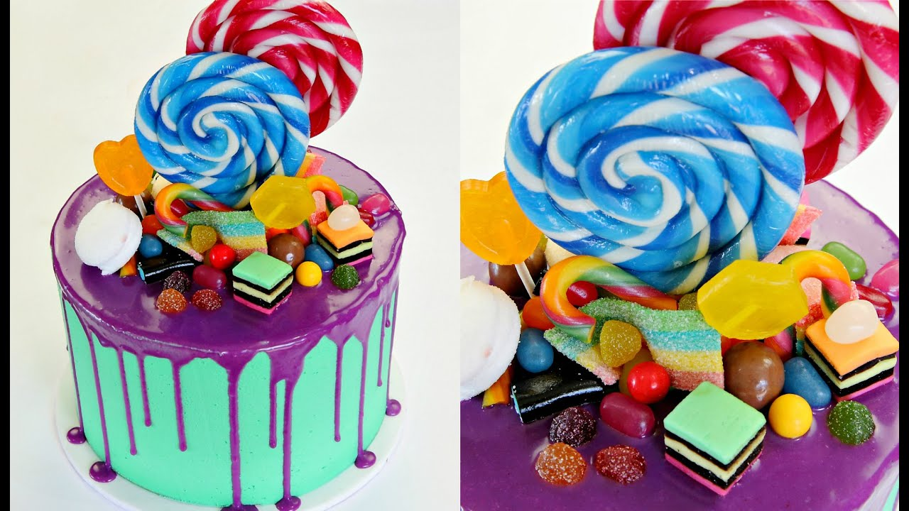 Candyland Drip Birthday Cake Cake Style Youtube