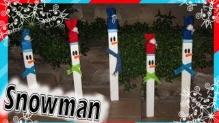 Decoración: Muñecos De Nieve /// Wooden Christmas Decorations: Snowman