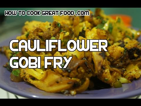 Gobi fry recipe indian dry cauliflower curry video youtube forumfinder Image collections