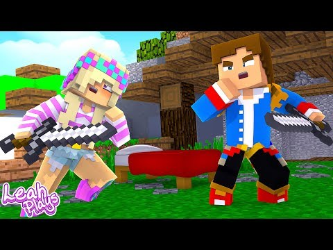 Minecraft Little Leah Plays -  FIGHTING OVER BED WARS WITH MY HUSBAND!!!!