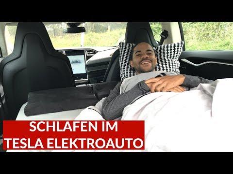 Kann Man Im Tesla Model S Gut Schlafen? Spezial Matratze Im Test!