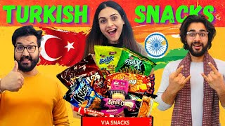 Indian's Trying TURKISH Food Snacks For The First Time 😱 || This Was Not Expected 🤬