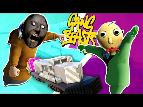 GRANNY VS. BALDI - Gang Beasts