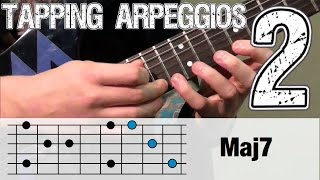 Guitar Tapping Lesson #2 | Full Arpeggios 7th chords