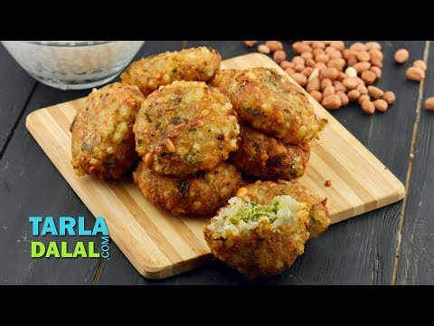 Sabudana Vada Stuffed with Coconut Chutney by Tarla Dalal