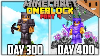 I Spent 400 Days in ONE BLOCK Minecraft... Here's What Happened