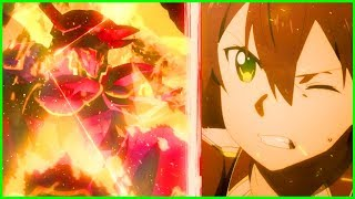 DEATH BATTLE! Kirito Vs Crimson Integrity Knight | Sword Art Online Alicization Episode 14