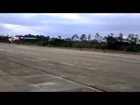 First Landing at the future  Placencia, Belize International Airport